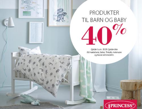 Salg på produkter til barn og baby hos Princess