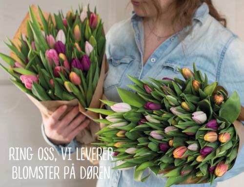 Floriss leverer blomster på døren