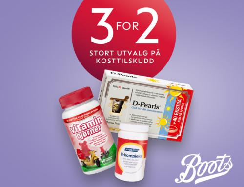 Boots kampanje på kosttilskudd